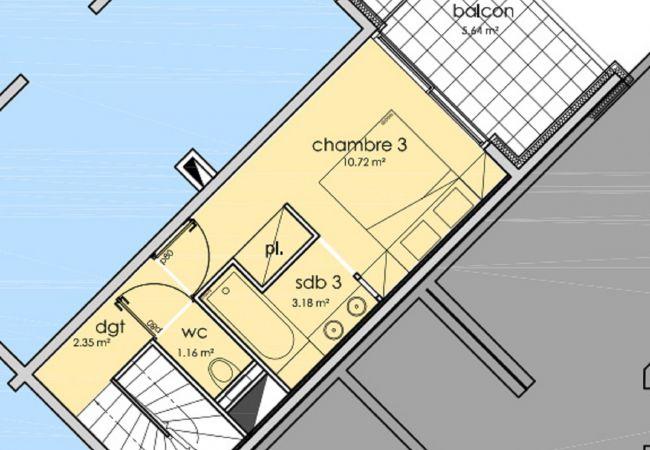 Appartement à L'Alpe d'Huez - Appartement le Kaila C