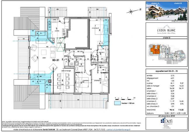 Appartement à L'Alpe d'Huez - Eden Blanc N°B3-31